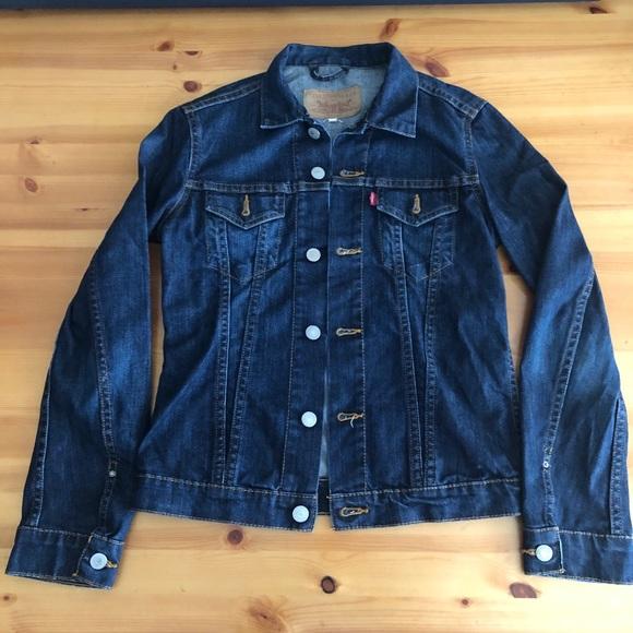 Levi's Denim Jean Jacket Dark Wash Small
